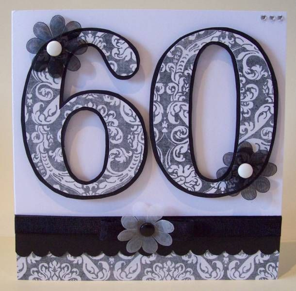 60th Birthday Monochrome