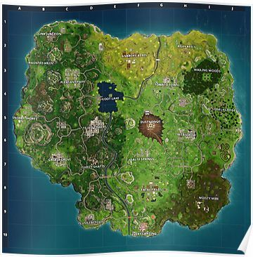 Fortnite Map Best Quality Season 4 Poster Fortnite Map Seasons