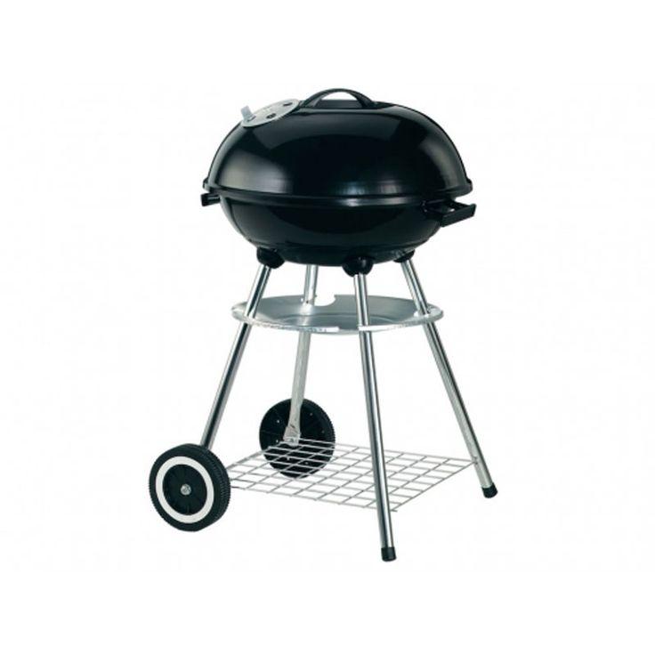 #BARBECUE #CARBONE. Materiale: acciaio  Barbecue a carbone in con comodo ripiano e coperchio con sfiato, ruote per spostamenti.  Dimensioni: 44 x 44 x H76 cm