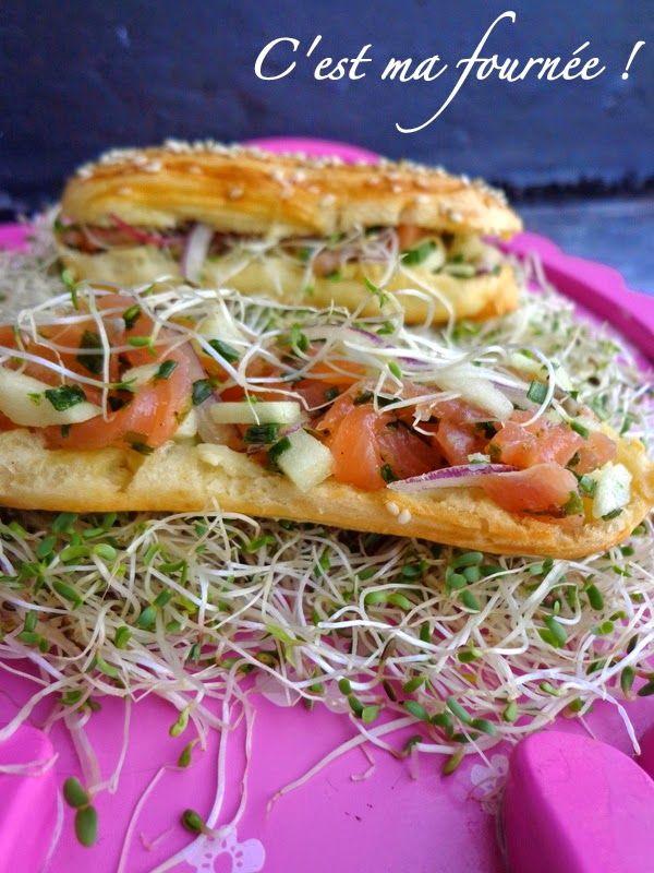 C'est ma fournée !: L'éclair tartare de saumon et pomme verte de Christophe Adam