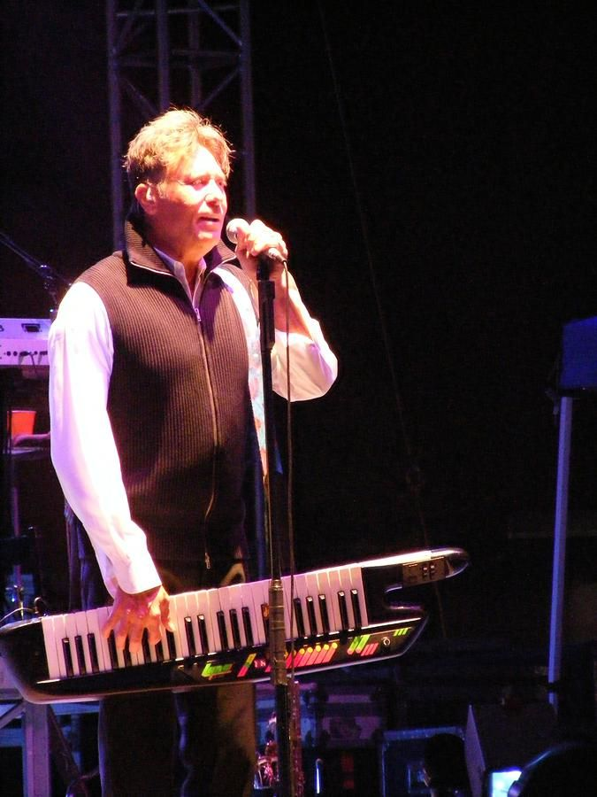 Robert Lamm with his  keytar at the Southearstern Idaho State Fair, in Blackfoot, Idaho, on September 7, 2007. Photograph by Dennis Jones