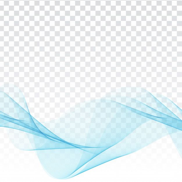 Download Abstract Blue Wave Elegant Design On Transparent