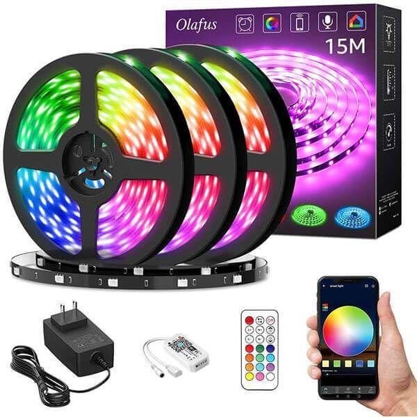 10M RGB 5050 SMD LED Stripe Leiste Streifen Band WiFi Alexa APP Fernbedienung