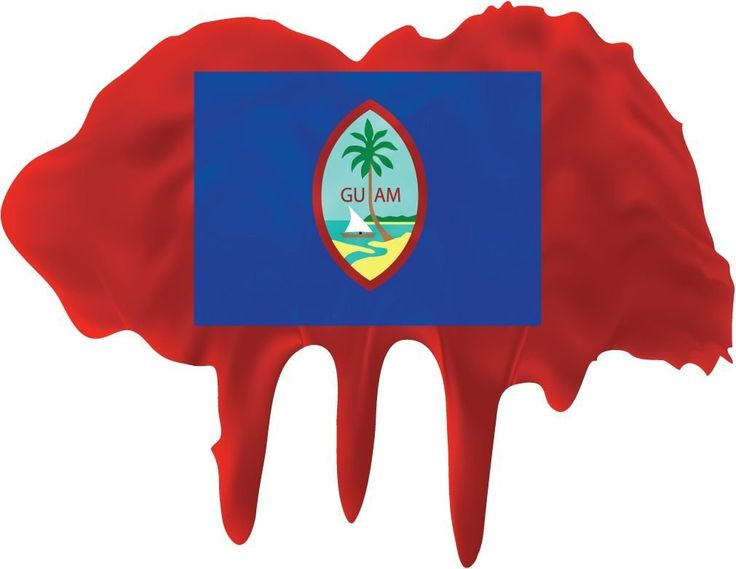 Guam Flag Blot Home Decal Vinyl Sticker 14'' X 11'' * Click image to review more details. (This is an affiliate link and I receive a commission for the sales)