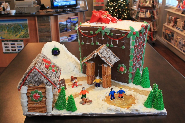 Tourism Chilliwack is taking part in a Gingerbread House Contest. We had tons of fun creating the hotel with all the facilities! :-) #gingerbread #Christmas