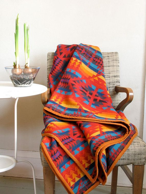 Pendleton Wool Blanket Native American Four by ohthisnose on Etsy