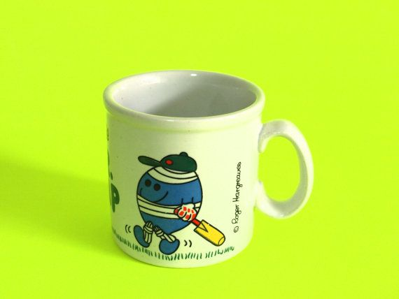 Retro Roger Hargreaves Mr Bump Mug  Vintage Kitsch by FunkyKoala