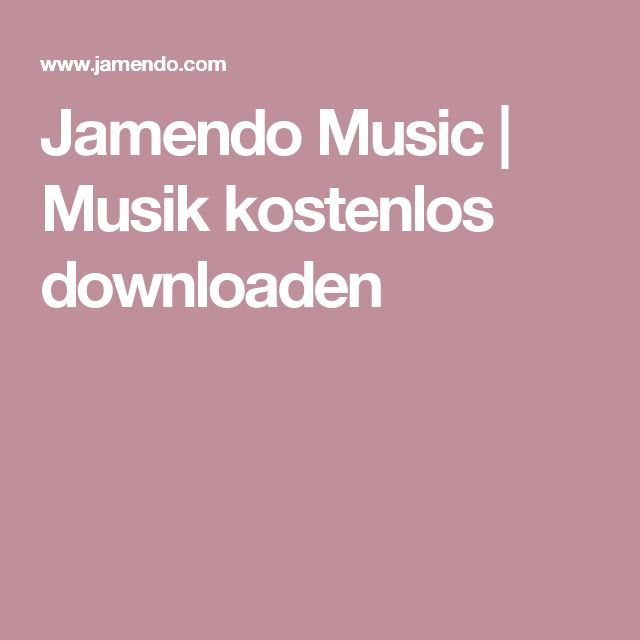 Jamendo Music | Musik kostenlos downloaden