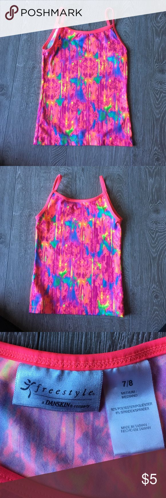 Girls gymnastics top size 7/8 Girls gymnastics top . Never worn size 7/8. Bundle with other cute kids stuff I have listed! Danskin Shirts & Tops Tank Tops