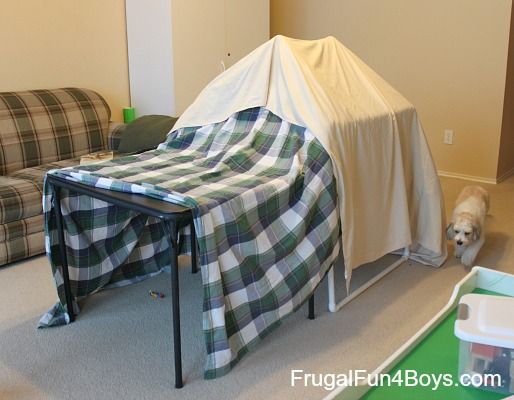 Build a PVC Pipe Play Tent/Fort - Frugal Fun For Boys