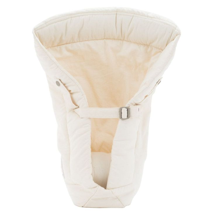 ERGOBABY  Infant Insert - Organic - Natural * Works with ErgoBaby Carrier * ....... * For use with babies 7-12 lbs. * ....... * Adjustable neck cushion for extra head & neck support *  ....... * Padded back panel to support baby's natural curved spine * ....... * Machine Washable * ....... * 100% Organic Cotton *  ....... $38