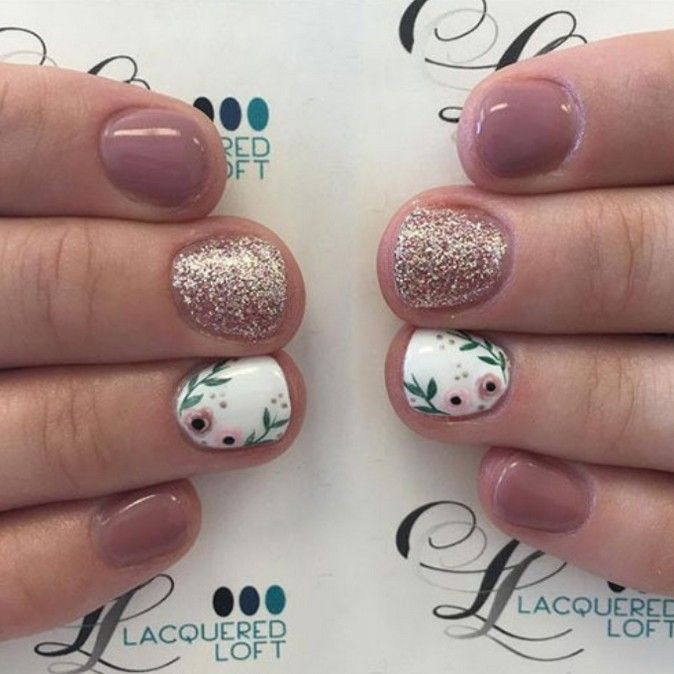 54 Most Lovely And Stunning Floral Nails Inspirational Art You For Prom And Wedding Floral Nail Art Floral Nails Short Nail Manicure