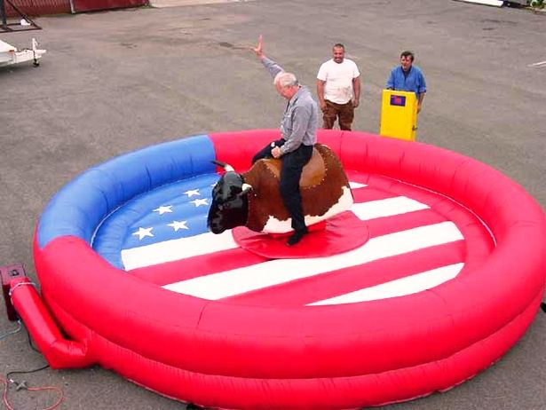 Mechanical Bull Inflatable Rentals. An American Themed Mechanical Bull Ride! Chicago Party Rentals