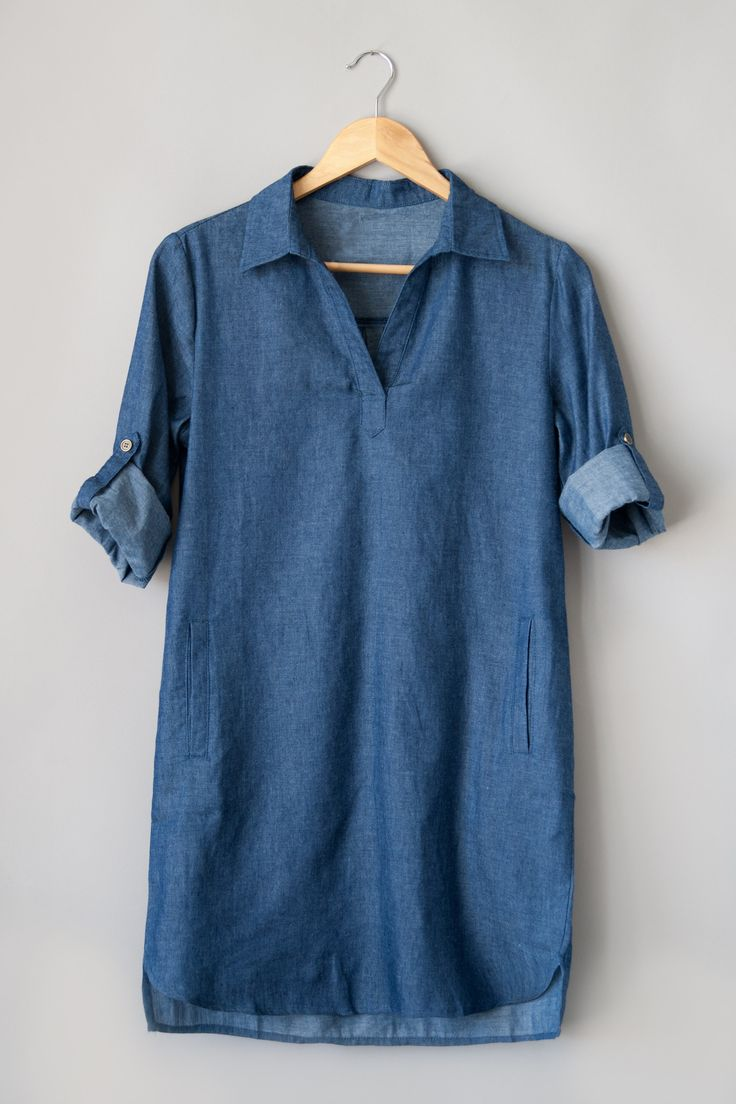 Dark Wash Chambray Tunic