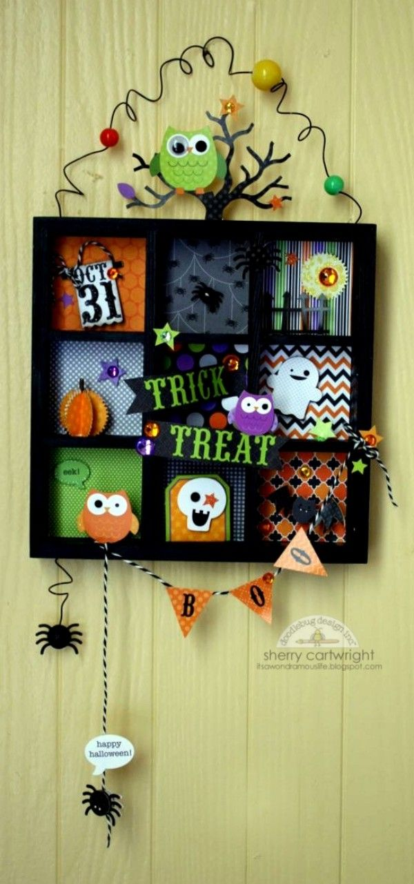 """Doodlebug Design Inc Blog: Tuesday Tutorial: Printer Tray by Sherry - I like the """"out of the box"""" pieces of it."""