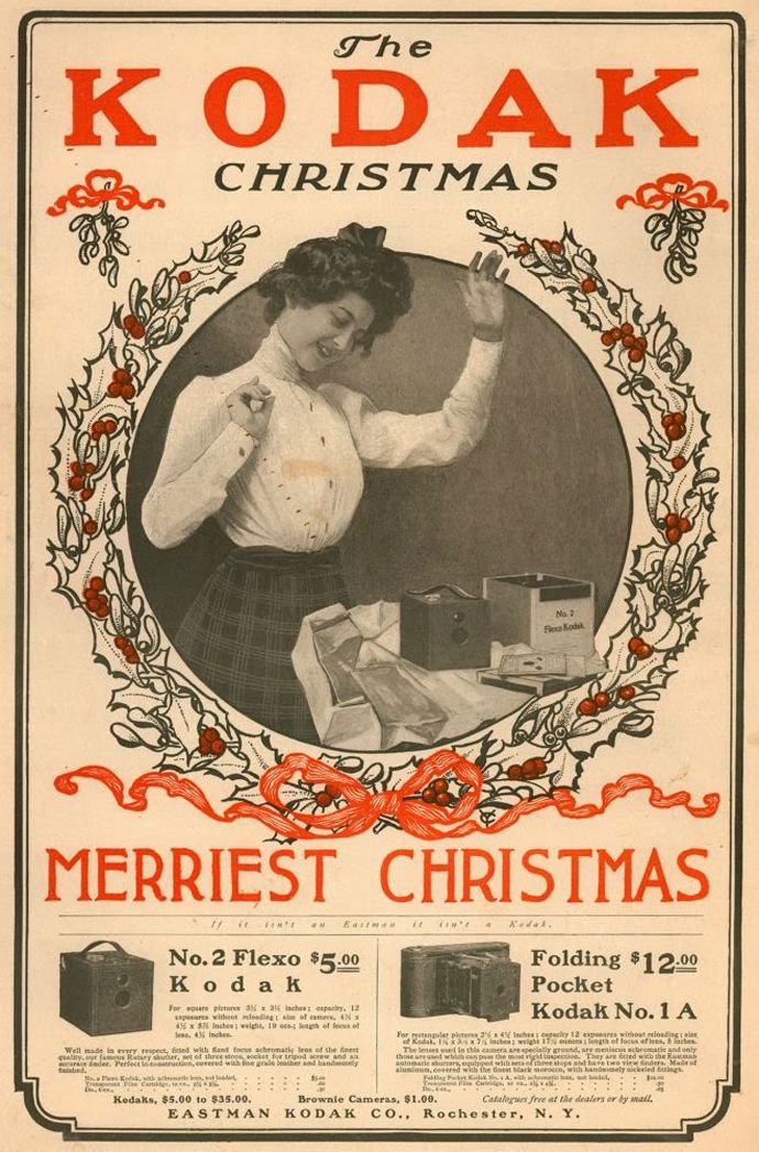 Flexo No.2 & Folding Pocket Kodak No.1 A - Christmas Ad