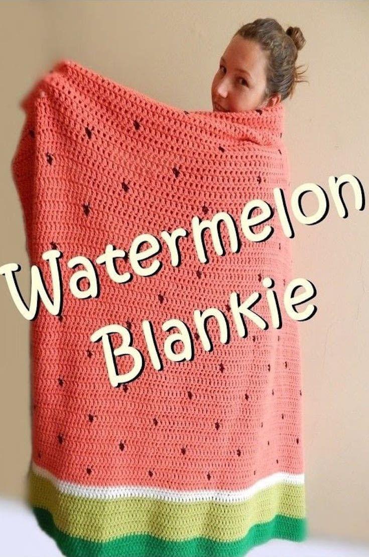 Watermelon Blankie Crochet Pattern