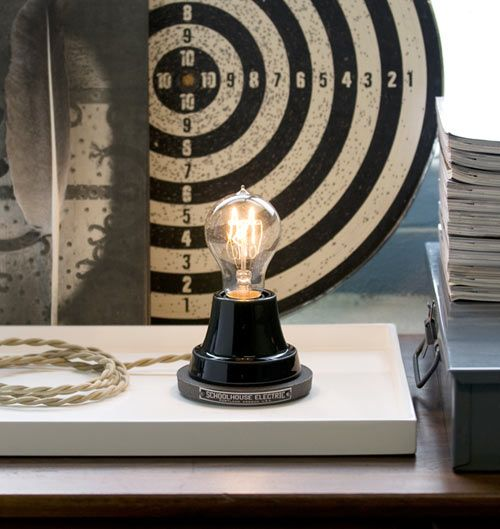 Table lamp from Schoolhouse Electrics: Modern House Design, Luxury House, Trav'Lin Lights, Black And White, Schoolhouse Electric, Black Ion, Tables Lamps, Ion Lamps, Modern Interiors