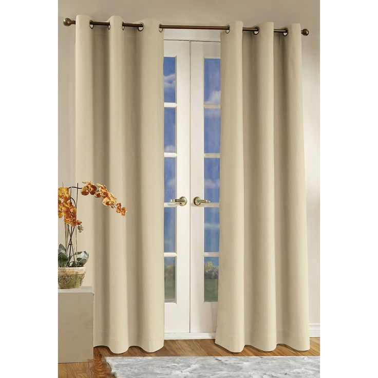 Attractive Grommet Top #curtains · French Door ...