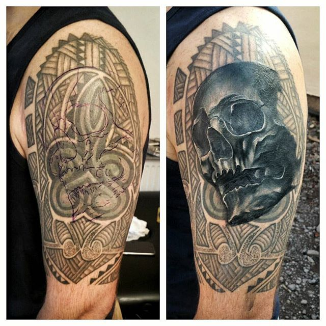 34 Best Tatto Fixers The Best Images On Pinterest: So First Session Complete On This Major Cover Up. Doing A