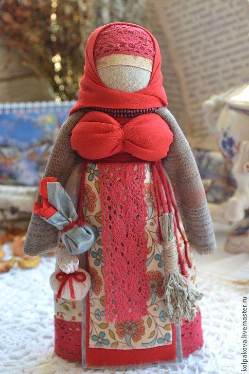 """Купить кукла-оберег Коляда """"К Рождеству"""". - ярко-красный, народная кукла, народная традиция"""
