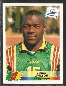 Image result for france 98 panini cameroun mimboe
