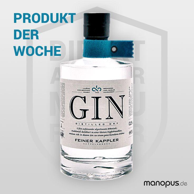 Unser Produkt der Woche: Feiner Kappler Distilled Dry Gin - Eine Interpretation des klassischen London Dry Gin aus dem Schwarzwald. Ein richtig frischer, leichter Gin mit 13 Botanicals und Thailändischer Kaffirlimette. Florale Noten von Holunderblüte, Lavendel und Hibiskus machen den Feiner Kappler Dry Gin zum perfekten Partner für ein trockenes Tonic Water an einem sonnigen Tag! Jetzt auf manopus.de online kaufen! #gin #gintonic #lime #spirit #ginlover #botanicals #schwarzwald #drygin