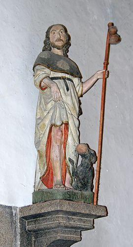 La statue de Saint Roch - église Saint Pierre du Mont Saint Michel