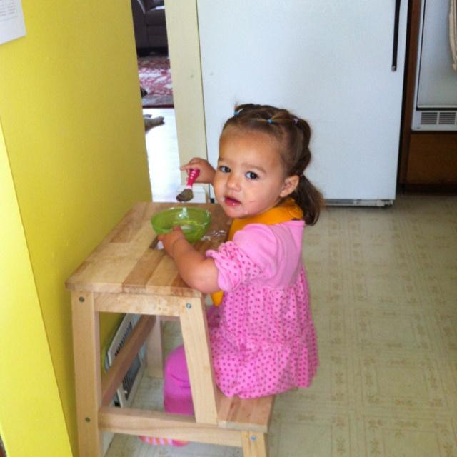 ikea stool toddler snack table genius kid business pinterest little miss toddler. Black Bedroom Furniture Sets. Home Design Ideas