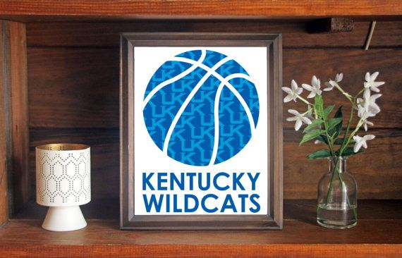 University of Kentucky UK Wildcats Basketball Print