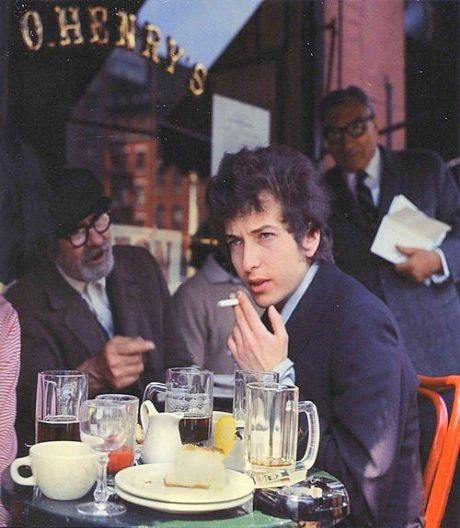 Bob Dylan at O'Henry's a wonderful old cafe at 4th Street & 6th Avenue in Greenwich Village (long gone)