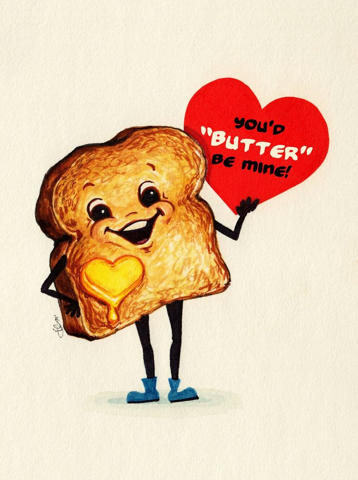 You'd Butter Be Mine vintage Valentine, retro, classic, greeting card