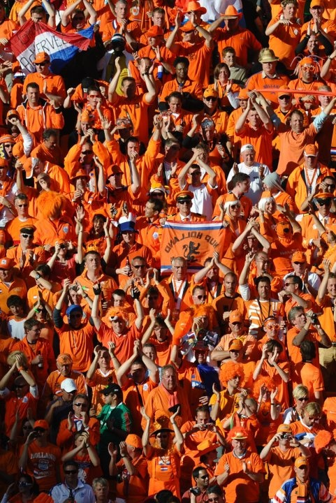 Het Oranje Legioen (the fans of our national soccer team). #greetingsfromnl