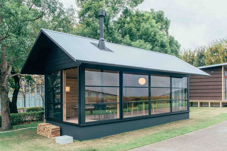 Japanese lifestyle brand MUJI unveils three new prefab cabins, each designed by Konstantin Grcic, Jasper Morrison and Naoto Fukasawa.