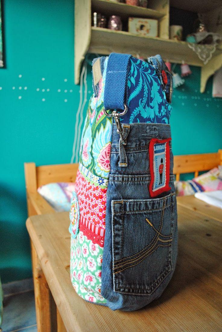 Recycled rice bag purse - Hallo Heute Morgen Habe Ich Bei Scharly Von Ihrer Wunderbaren Linklist Erfahren Gezeigt Werden Recycling Bagsdenim
