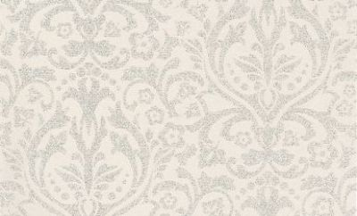 Glitter Damask (404418) - Albany Wallpapers - A pretty silver glitter floral damask design on a soft opal white background. Really sparkles, much prettier than in the image. Please request sample for true colour match.