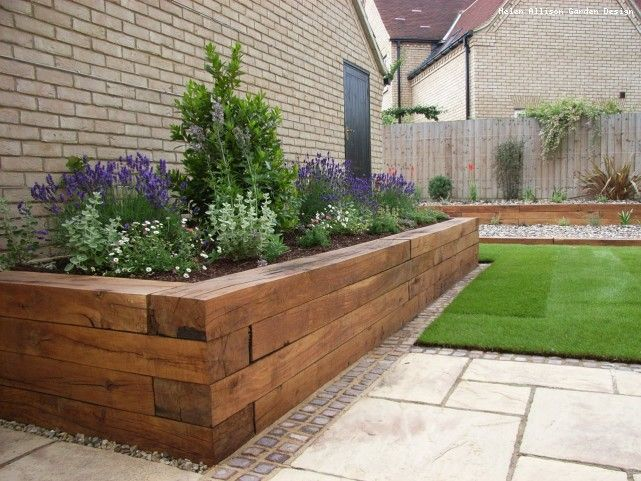 Chunky Raised Bed - Garden Designer in Suffolk l Helen Allison