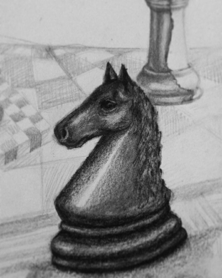 #horse #chess #blackandwhite #drawing #details #barbaravisca #illustration #scaccomatto #drawing #draw #drawings #sketching #sketch #sketchbook  #pencildrawing #pencil #bnw #bw #chiaroscuro #contrast #black #white #noir #blanco #scacchi #passion #pezzi #scacchiera