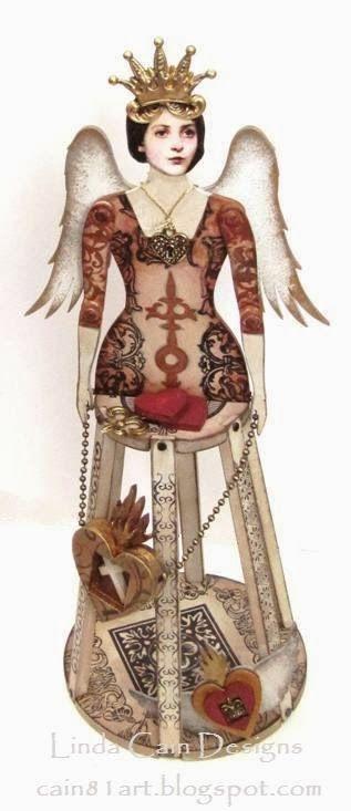 FRIENDS in ART: A 3D Articulated Santos Doll Shrine from @Retro Café Art Gallery