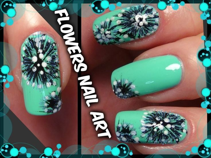 Flowers Nail Art - Designs Tutorial for Beginners Easy Simple - By Beaut...