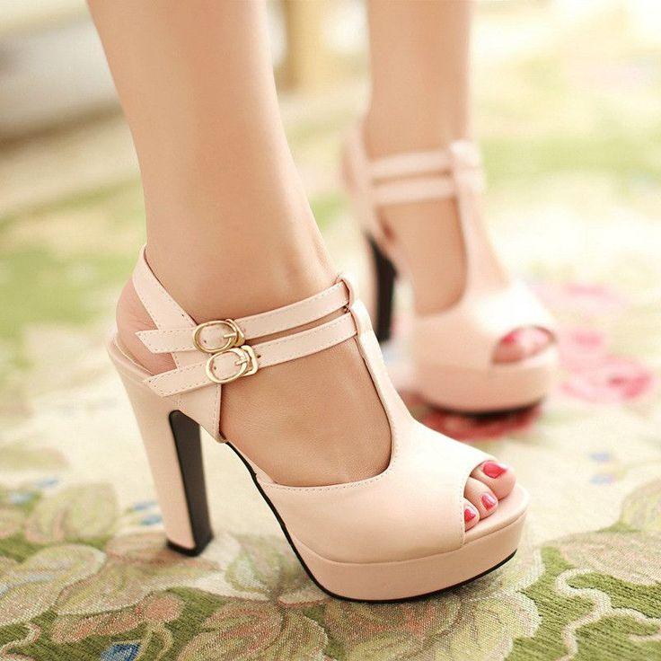 Cross Strap Platform Sandals Women Pumps High Heels Shoes Woman