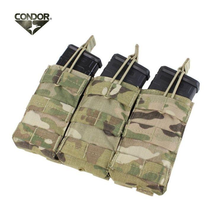 Condor Multicam Triple M4/M16 Open Top Mag Pouch