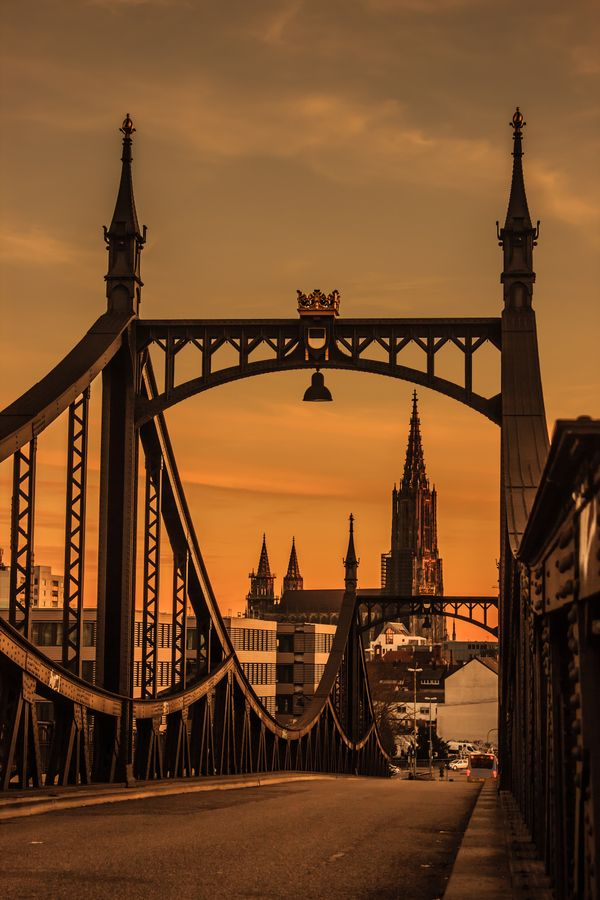 Through the Bridge, Ulm, Germany