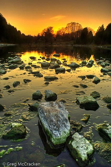 Grand River Evening, Fergus, Ontario