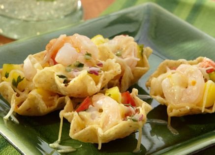 Celebrate learning something new with a NEW #recipe! Try snacking on Shrimp Nachos with Mango Salsa.