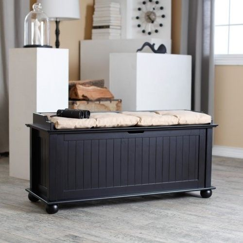 Morgan Traditional Flip Top Storage Bench   Black Traditional Bedroom  Benches