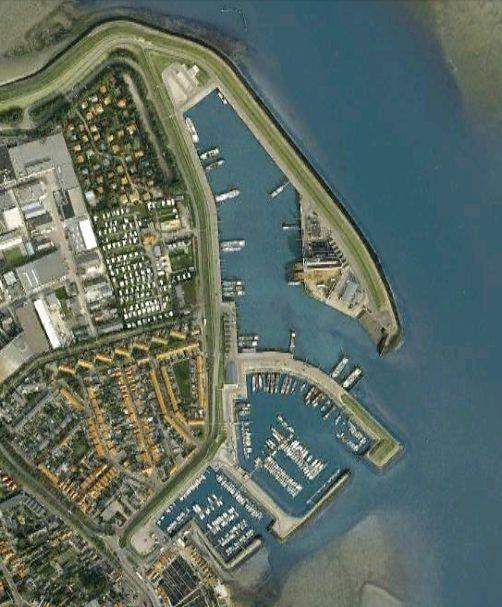 Haven van Yerseke, de haven bestaat uit 3 delen