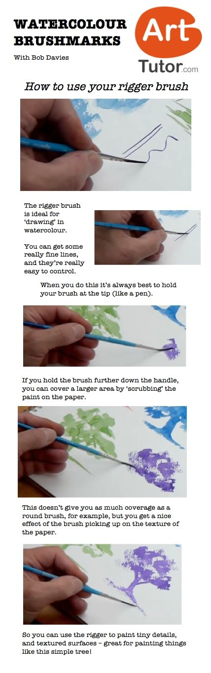 outlet online shop How to use your rigger brush in watercolour  For more watercolour tips and
