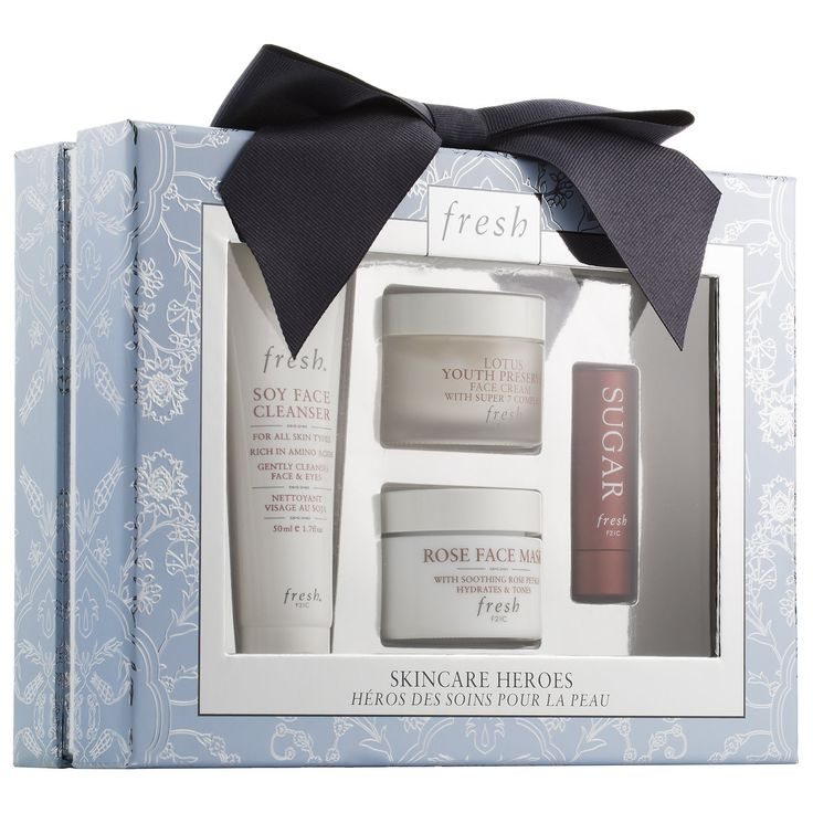 Shop Fresh's Skincare Heroes Gift Set at Sephora. This four-piece holiday set cleanses, treats, and moisturizes skin and lips.