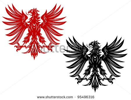 polish eagle tattoo - would want a pancreatic cancer awareness ribbon in its claws for my dad
